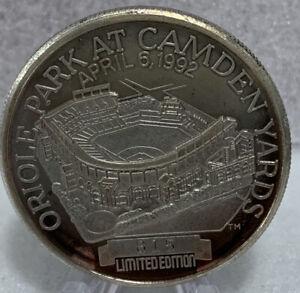 * April 6, 1992 Opening Day Camden Yards / Memorial Stadium 1 OZ Fine Silver.999