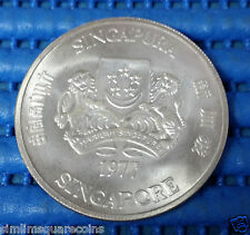 1977 Singapore Ship/Freighter $10 Commemorative 1 oz .500 Fine Silver Coin