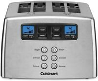 Cuisinart Toaster 4 Slice Touch to Toast Stainless Look Leverless Dual Control