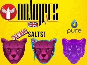 Dr Vapes Nic Salt E Liquid Vape Juice Panther Pink 10ml 10mg 20mg x 1 x 3 x 5