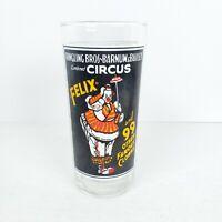 Vintage 1975 Ringling Brothers Bros Barnum Bailey Circus Felix Pepsi Glass 16 oz