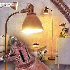 Rost Steh Boden Leuchte verstellbar Büro Lampe Retro Lese Wohn Schlaf schwenkbar