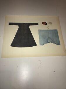 1922 Oriental Costume Antique Print Tilke North Africa Egypt Chemise Homme