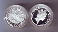 1990 SILVER Proof $1 Australia Kangaroo Coin out of Masterpieces Set
