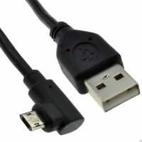 USB 2.0 A To Double Sided RIGHT ANGLE MICRO B Cable  3m Lead BLACK