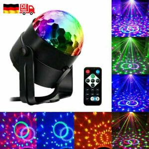 LED Discolicht Partyleuchte DJ-Licht RGB Tischlampe Lichteffekte Rotierend 360°