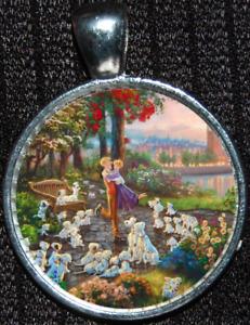 101 Dalmatians Pongo Dogs Disneyland Disney Silver Pendant Necklace Jewelry