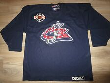 Columbus Blue Jackets CCM NHL Hockey Center Ice Jersey XL mens