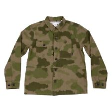 NWT Poler Stuff Men's The Buck  Woven Canvas Jacket Green Furry Camo size US M