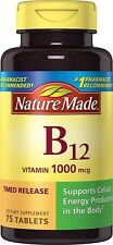 Nature Made Vitamin B-12 Timed Release 1000mcg, 75 Tablets
