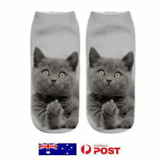 Cute Cat Socks Unisex Low Cut Ankle Funny Animal Gifts For Cat Lovers Women Kids
