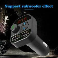 Car Bluetooth FM Transmitter Wireless MP3 FM Player Dual USB Charger Handsfree