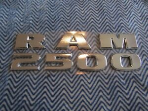DODGE RAM 2500 SATIN CHROME DOOR OR TAILGATE LETTERING EMBLEMS NEW #22