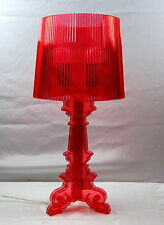 Acrylic Modern Table Lamp  with in Cylinder Shade Red IT102C