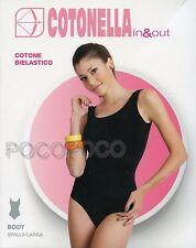 Body tirantes anchos mujer Algodón Elástico Cotonella art. 3513 5-xl blanco