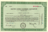 Electric Power Equipment Corp. stock certificate share