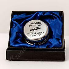 Engraved Yo Yo Personalised Page Boy Flower Girl Wedding Gift yoyo in BLUE Box