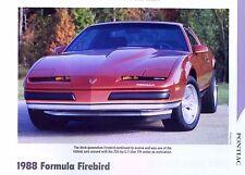 1988 Pontiac Formula Firebird Info/Specs/photo 11x8