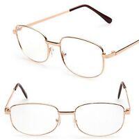 Unisex Damen Herren Lesebrille Brille Leserbrille Metallgestell +1,0 bis +4 L9I7