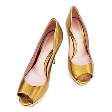 Gucci pumps heel Bronze Woman Authentic Used A1544