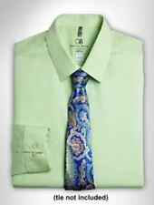 Camicie classiche da uomo verde regolare elasticizzato