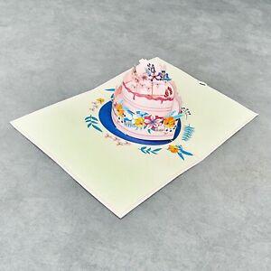 Birthday Cake Pop Up Card, Birthday 3D Card, Wedding Cake Card