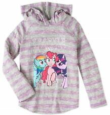 My Little Pony Girls' Long Sleeve Hacci Top with Hoodie # 2 -- Size  10-12