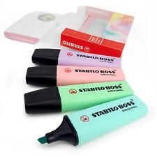 Stabilo Boss Pastel Highlighter Pen Highlighter Markers - Set of 4 in Wallet