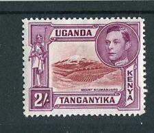 Kenya Uganda Tanganyika kgvi 1938-54 2s LAKE-Brown & Brown-viola sg146a mm