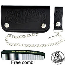 Suavecito OG Script Chained Biker Wallet - Black