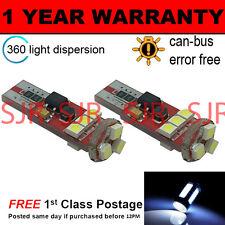 2x W5w T10 501 Canbus Error Free Blanco 9 Smd Led sidelight bombillas Brillante sl104305