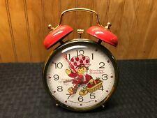 Vintage 1981 Bradley Wind Up Twin Bell Alarm Clock Runs Strawberry Shortcake