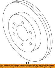 FORD OEM Front Brake-Disc Rotor CL3Z1125D