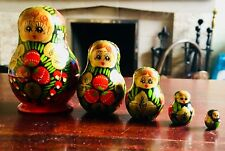 Vintage Russian Doll Set Of 5 small nesting  Matryoshka Dolls MATPEWKA