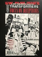 Transformers Focus On Deceptions #1 Retailer Incentive IDW Sketch Variant NM+