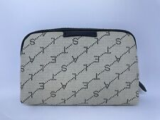 Stella Mccartney Black Monogram Fabric Cosmetics Bag