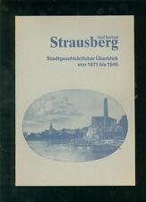 Strausberg Stadtgeschichtlicher Überblick von 1871 bis 1945