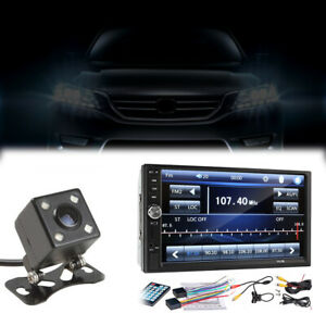 """7"""" Touch Screen 2 Din Radio Audio Stereo Car Video Player w/ HD Camera Accessory"""