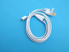 Car Aux 3.5mm Audio Micro USB Charger Data Cable for Galaxy S6 S4 Note 3 2 White