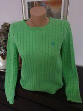 Ladies Green Cotton Lauren RALPH LAUREN Jumper Size M