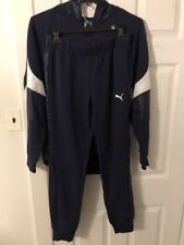 $100 PUMA Mmix TRACK SUIT JACKET + PANTS  BLUE White RARE (SIZE M)