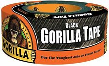 "Gorilla Duct Tape 1.88"" x 12 yd Black Roll Single Double Thick Adhesive Tapes"