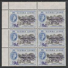 Sierra Leone 3914 - 1963 POSTAL  COMMEMORATION 9d on 1.5d VARIETY unmounted mint