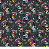 Fat Quarter Nightmare Before Christmas Coffin Sally 100% Cotton Quilting Fabric