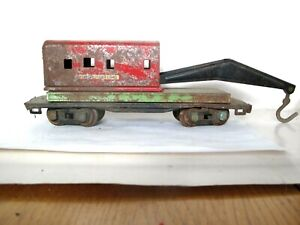 O SCALE Vintage WRECKER CRANE Freight Train Car LOT D