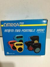 VINTAGE NOVELTY MINI RADIO OMEGA MOD WITH ORIGINAL BOX  FM -AM-MW 1980s