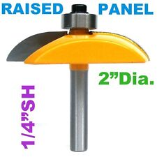 "1 pc 1/4"" Sh. 2"" Dia. Cove Convex Raised Panel and Base Edge Router Bit S"