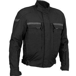 Mens Waterproof Motorbike Motorcycle Cordura Jacket All Season Biker Armour Coat