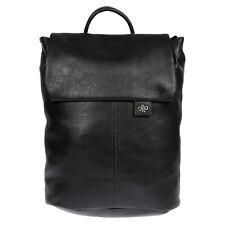 City Damen Rucksack mit Notebook Tablet Fach Leder Optik Tasche Schwarz Backpack