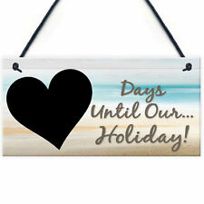 Chalk Board Holiday Countdown Sign - Days Until Our Holiday Beach Sea Surprise